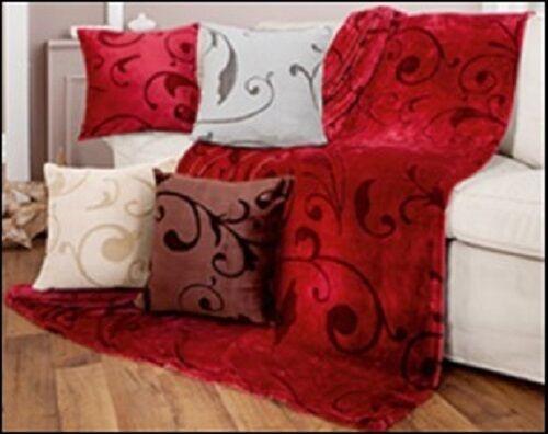 Cashmerefeeling Kissen Decken 150 x 200 cm Paisley Ranke Muster 4 Farben TOP