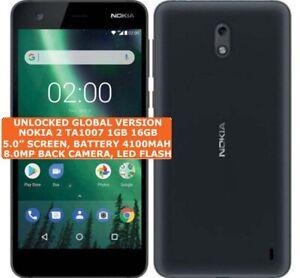"NOKIA 2 TA1007 16 Go Quad-Core Caméra 8.0mp 5.0"" Débloqué Android 7 4 G Smartphone"