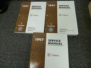 1997 cadillac catera repair shop manual original 3 volume set.