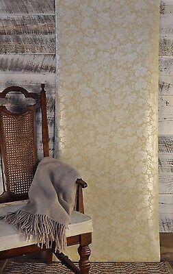5 ROLL LOT York Wallcoverings Vintage Floral Antique Grey Cream Tan Wallpaper
