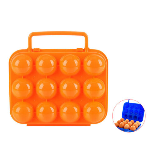 Portable 12 Grids Egg Storage Holder Container Box Case Camping Eggs Organizer