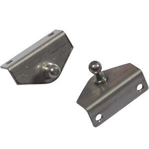 2x Goliath Gas Strut Bracket 10mm Ball End Stainless Steel
