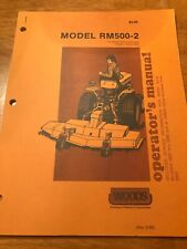 1991 WOODS RM660 ROTARY MOWER OPERATORS PARTS & SERVICE MANUAL for