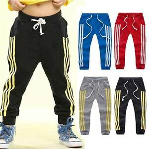 Baby-Boy-Girls-Sports-Pants-Toddler-Kid-Sweat-Pants-Joggers-Elastic-Bottoms-2-7T