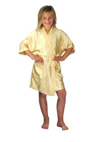 Nine X Satin Children Robe Kids Dressing Gown 2//4-12//13 yrs Bridesmaid