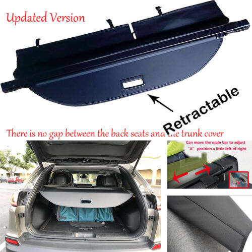 For 2019 2020 Jeep Cherokee Retractable Cargo Cover Trunk Shield Privacy Shade