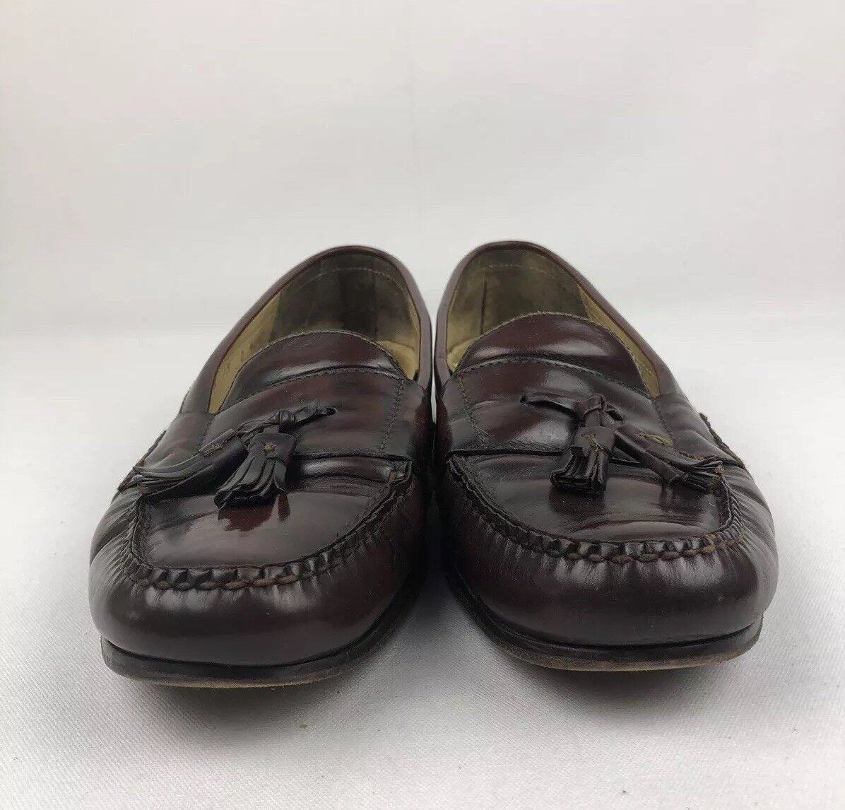 Cole Haan City Brown Leather Dress Loafers Mens 13 D Tassle Kilties Slip On D53