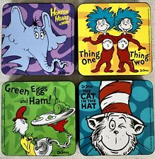 Dr Seuss Magnetic Dry Boardwhite Board Erasers Supplies Set Of 4 New