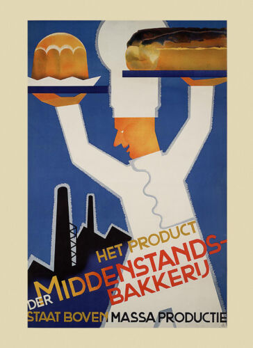 Food Bakery Bread Cakes Pastries Pies Chef Vintage Poster Repro FREE S//H in USA