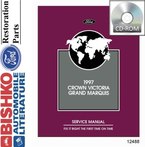 1997 Ford Crown Victoria Mercury Grand Marquis Shop Service Repair Manual CD OEM