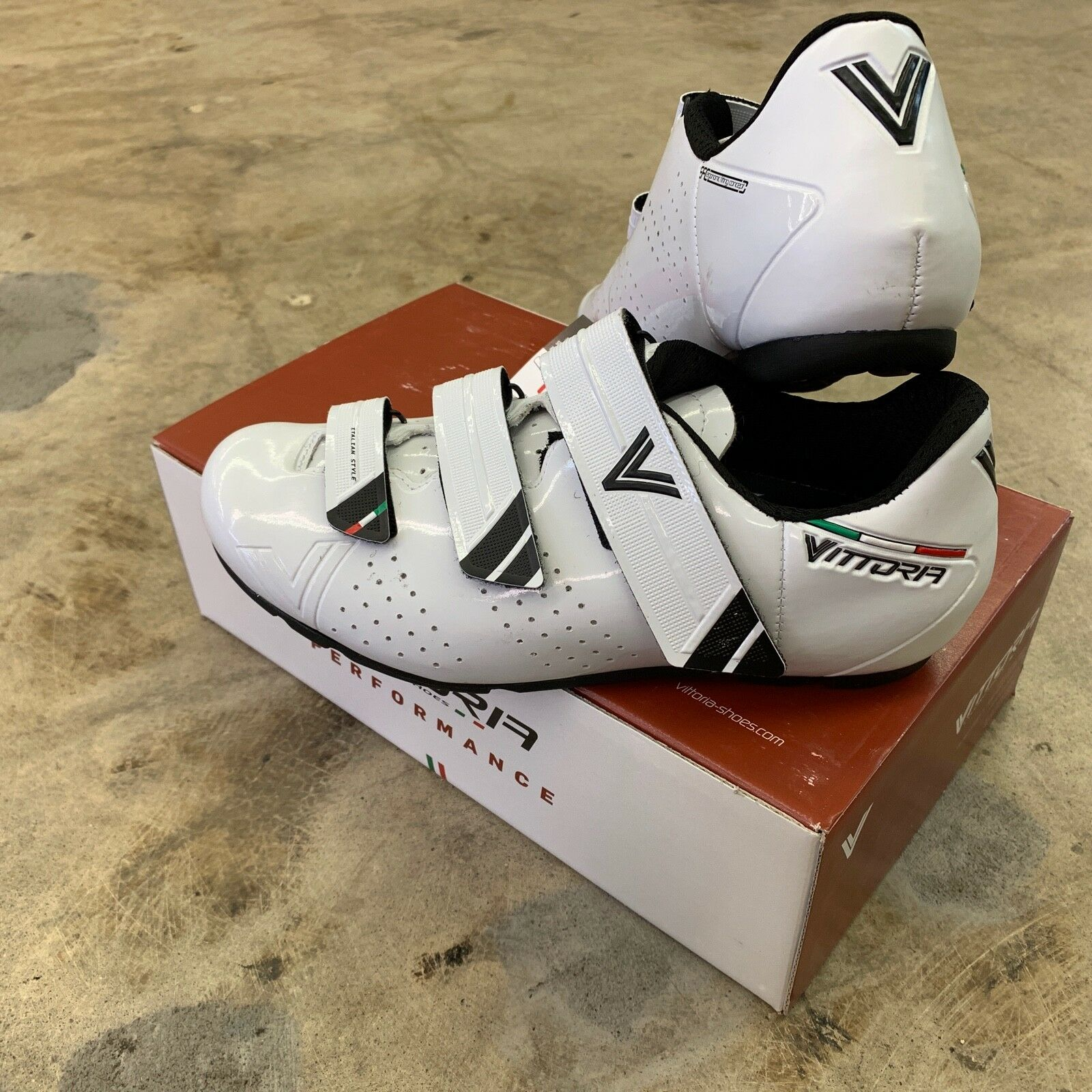 Vittoria Rapide GT Road Touring Spin Cycling shoes White Size 41