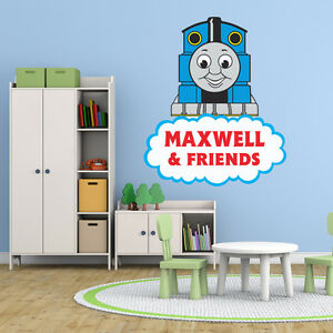 thomas the tank engine large personalised boys room wall. Black Bedroom Furniture Sets. Home Design Ideas
