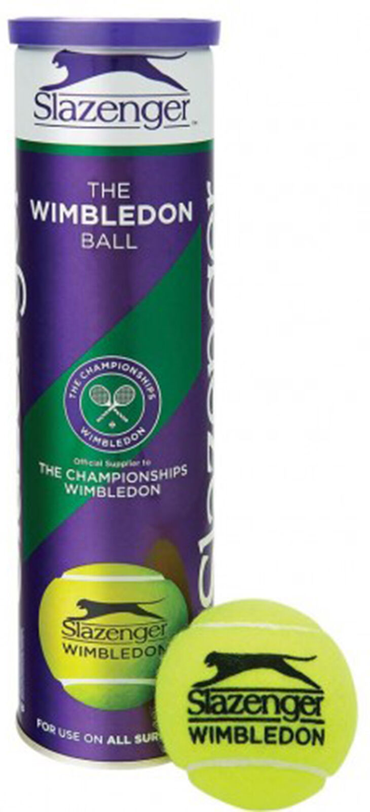 Slazenger Wimbledon Tennis Sports Match Quality Ball Ultravis 3X4 Ball Tin