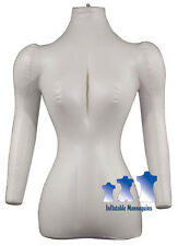 Inflatable Mannequin Female Torso With Arms Ivory