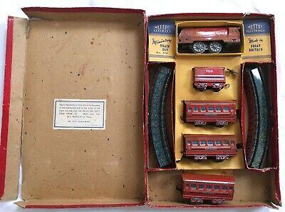 Mettere In Guardia Vintage Mettoy Railways Tinplate Clockwork Streamline Miniature Train Set 5703 Prezzo Più Conveniente Dal Nostro Sito