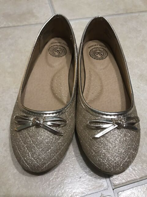 Girls Youth S.O DAISY White Lace Slip On Ballet Flats Dress Shoes NEW