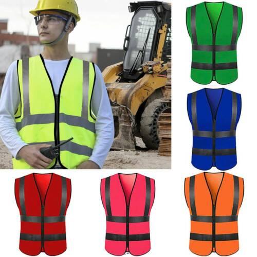 Hi-Vis Visibility Security Work Vest Reflective Safety Jackets Coats Waistcoat
