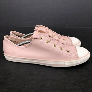 Star Low Pink Leather Shoes Size