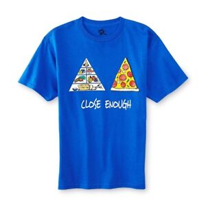 """Treu Ink Inc Blau """" Pizza Pyramid """" Grafik T-shirt Big Boys Groß StraßEnpreis 14/16"""