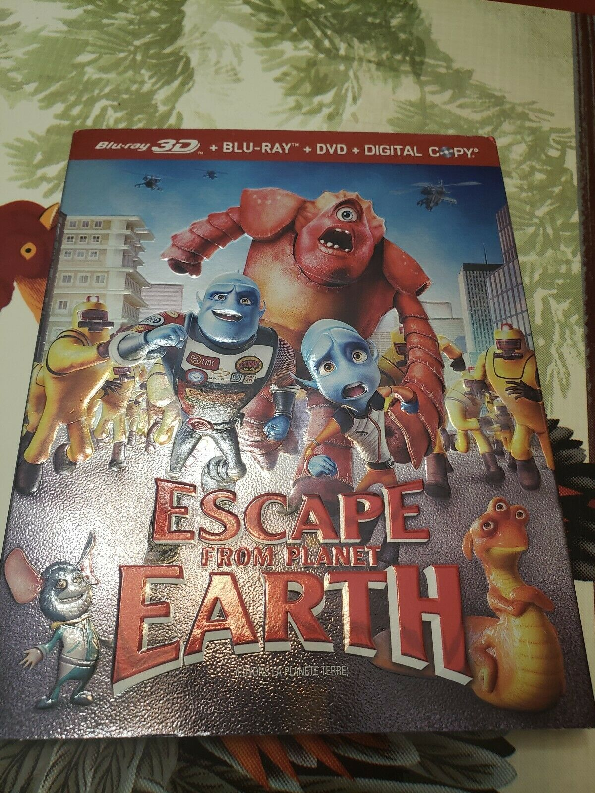 Avatar Xxx escape from planet earth 3d 2d w slip cover bluray dvd 4-disc 2013 d