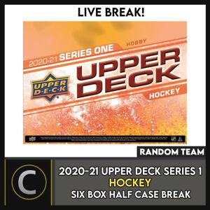 2020-21 UPPER DECK SERIES 1 HOCKEY 6 BOX HALF CASE BREAK #H1034 - RANDOM TEAMS