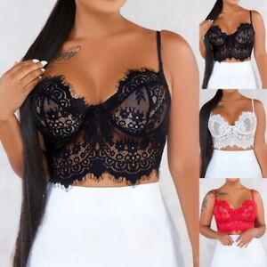 Damen-Sexy-Dessous-Kimono-schwarz-transparent-Spitze-Tops-Vest1