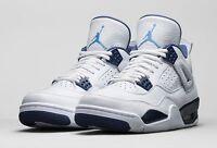 "Size 8.5 Men's Air Jordan 4 Retro LS ""Legend Blue"" 314254 107 Basketball Sneaker"