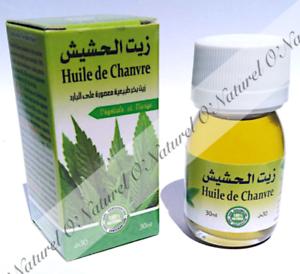 Huile-de-Chanvre-100-Pure-amp-Naturelle-30ml-Hemp-Oil-Aceite-Canamo