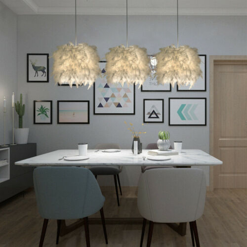 Feather Ceiling Pandant Light Shade Morden Bedroom Nordic Style Lampshade