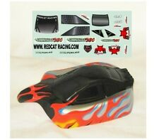 Redcat Racing 1/10 Buggy Body Black & Silver Shockwave Tornado DECALS Part 10700