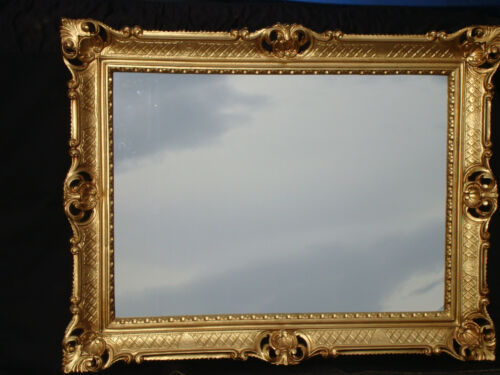 Bilderrahmen mit Glas 50x70 Rahmen BAROCK Rechteckig Antik Fotorahmen Gold 90x70