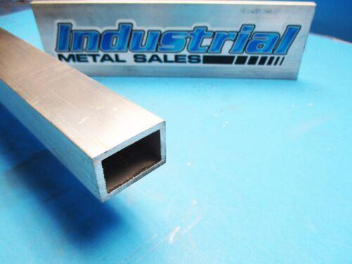 "6063 T52 Aluminum Rectangle Tube 1/"" x 1-1//2 /"" x 24/""-Long x 1//8/"" Wall--/>NEW !"