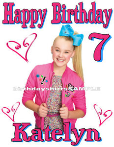 Image Is Loading NEW Custom Personalized JoJo Siwa T Shirt Birthday