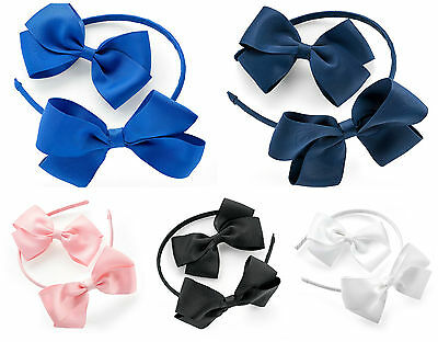 Cerchietto E Clip Per Capelli Set Bendie Aliceband Large Bow Head Band Clip-mostra Il Titolo Originale