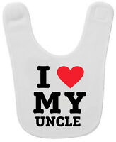 Lil Shirts I Love My Uncle Baby Bib