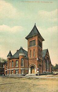 c1910-First-Presbyterian-Church-Huntington-Indiana-Postcard