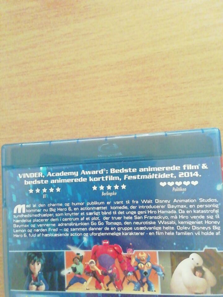 Big Hero 6, Blu-ray, andet