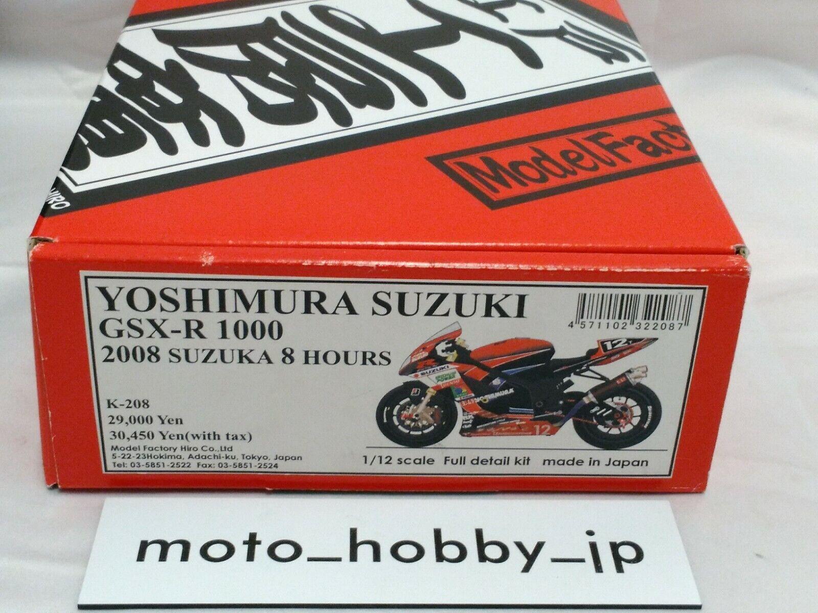 hasta un 60% de descuento Mfh 1 12 Yoshimura Suzuki Gsx-R 1000 '08 '08 '08 Suzuka Full Kit Detalle K-208 Japón  en stock
