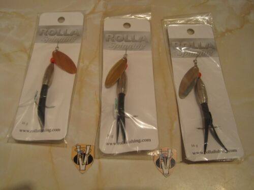 Rolla Silver Bullet Salmon Spinning Lures 16 /& 22 Grams All Colours