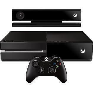 Microsoft Xbox One Kinect Bundle 500gb Black Console 7uv 00239 For Sale Online Ebay