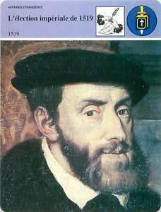FICHE-CARD-Election-Imperiale-de-1519-Charles-Quint-Karl-Holy-Roman-Emperor-90s
