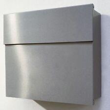 Letterman 4 Briefkasten weiß Klappe Edelstahl radius design EXKLUSIV