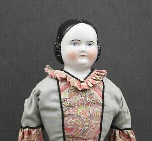 ANTIQUE-GERMAN-039-CHINA-DOLL-039-Covered-Wagon-Style