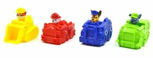 Paw-Patrol-Lot-of-4-Mini-Vehicles-Characters-Marshall-Rockey-Rubble-Chase