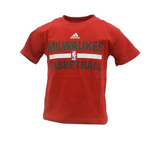 promo code 4358e 6812d Details about Milwaukee Bucks Official NBA Adidas Youth Kids Size T-Shirt  New Tags