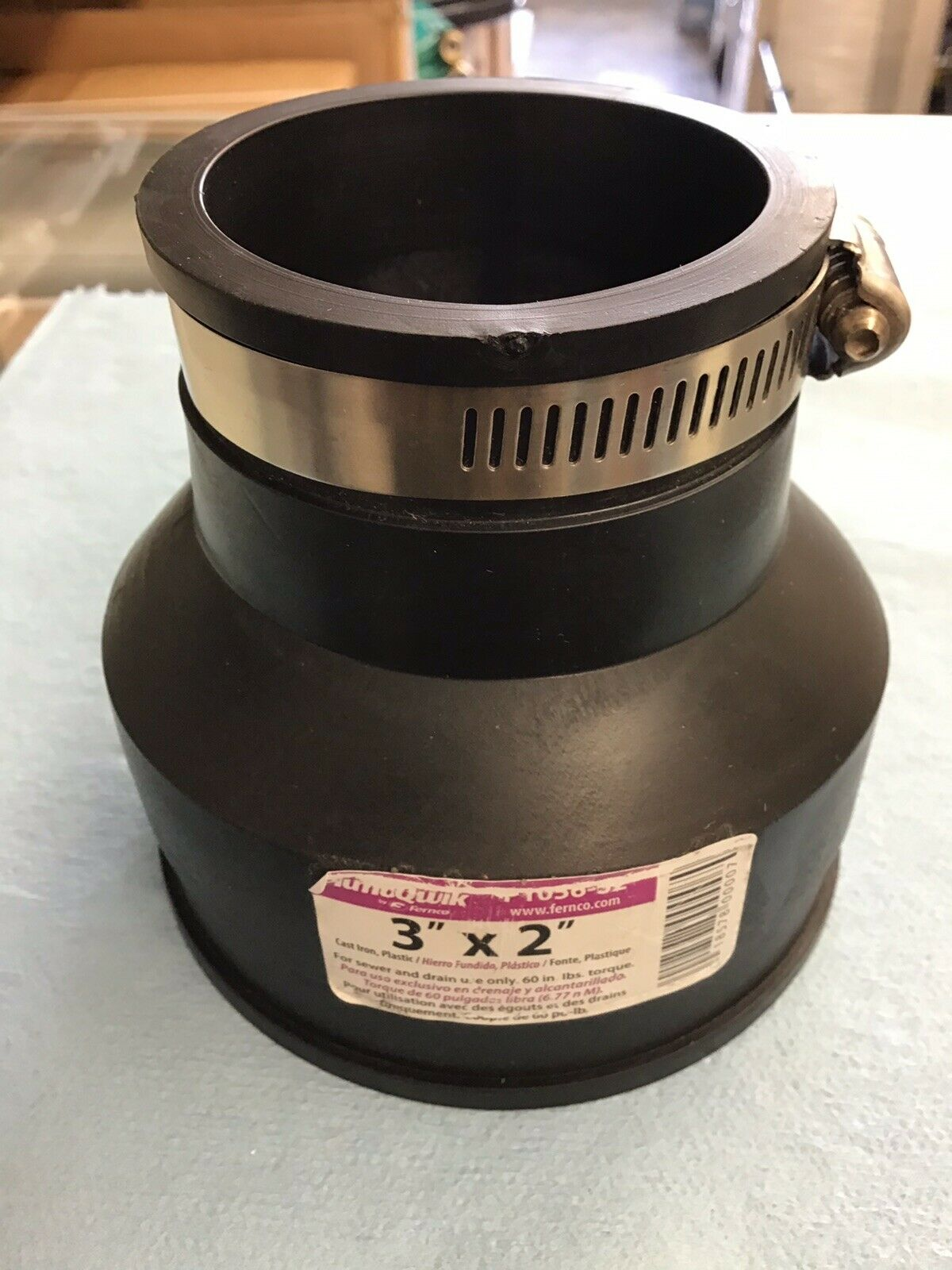 Flexible Coupling For Pipe Size 3 x 2 Pack of 5 Fernco 105632