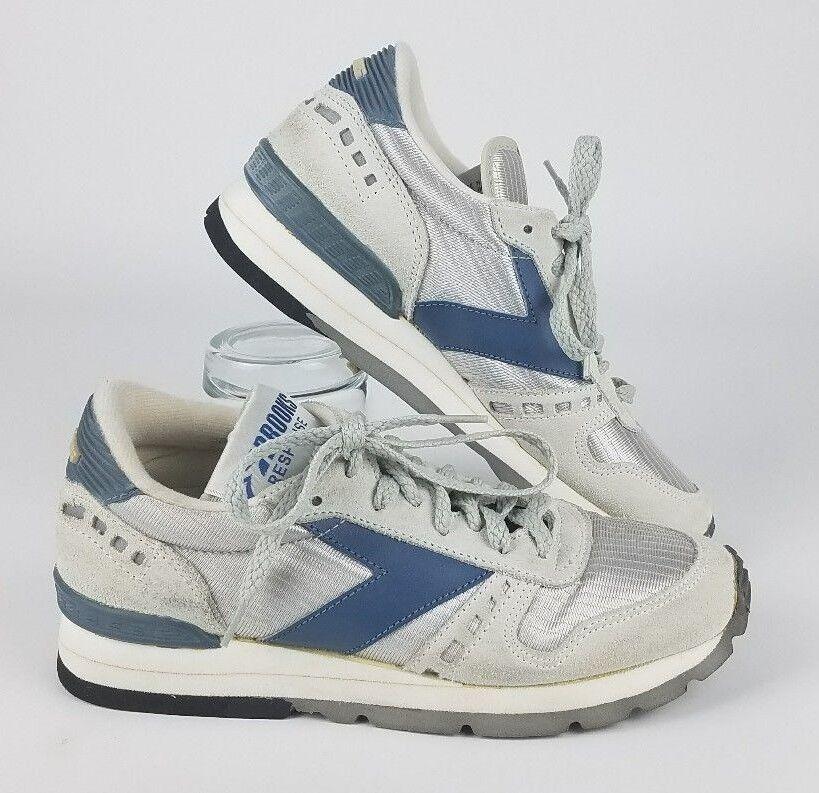 uomini e 'brooks risposta vintage scarpe da ginnastica in un'escursione dimensioni 6 bianco / blu