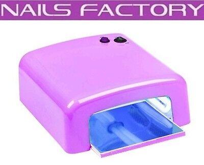 UV-Lampe eckig LILA 4 x 9W Lichthärtungsgerät Nails Nailart UV-Gerät