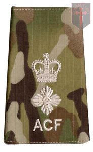 Pair-Multicam-MTP-ACF-Lieutenant-Colonel-RANK-SLIDES-Cadets-Army-Cadet-Force