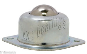 2 Holes Silver Tone Flange Ball Transfer Unit Mounted Bearings 5pcs